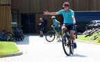 SOUTHAMPTON, ENGLAND - JULY 21: James Ward-Prowse during a pre season day of cycling around The New forest, July 21, 2021 in Southampton, England. (Photo by Matt Watson/Southampton FC via Getty Images)