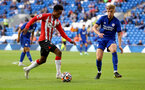 CARDIFF, WALES - JULY 27: Kyle Walker-Peters of Southampton during the Pre-Season Friendly match between Cardiff City and Southampton at Cardiff City Stadium on July 27, 2021 in Cardiff, Wales. Photo by Matt Watson/Southampton FC via Getty Images