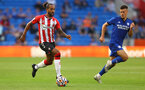 CARDIFF, WALES - JULY 27: Theo Walcott of Southampton during the Pre-Season Friendly match between Cardiff City and Southampton at Cardiff City Stadium on July 27, 2021 in Cardiff, Wales. Photo by Matt Watson/Southampton FC via Getty Images