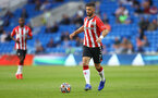 CARDIFF, WALES - JULY 27: Shane Long of Southampton during the Pre-Season Friendly match between Cardiff City and Southampton at Cardiff City Stadium on July 27, 2021 in Cardiff, Wales. Photo by Matt Watson/Southampton FC via Getty Images