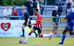 SOUTHAMPTON, ENGLAND - July 27:  Jayden Smith of Southampton during pre season friendly between AFC Totton and Southampton B Team at Snows Stadium on July 27, 2021 in Southampton, England. (Photo by Isabelle Field/Southampton FC via Getty Images)