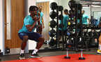 CARDIFF, WALES - JULY 28: Mohammed Salisu during a Southampton FC pre-season recovery session at The Vale Resort, Vale of Glamorgan on July 28, 2021 in Cardiff, Wales. Photo by Matt Watson/Southampton FC via Getty Images