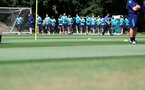 CARDIFF, WALES - JULY 29: Players warm up during a Southampton FC pre season training session at the Vale Resort, Vale of Glamorgan on July 29, 2021 in Cardiff, Wales. (Photo by Matt Watson/Southampton FC via Getty Images)