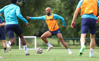 CARDIFF, WALES - JULY 29: Nathan Redmond during a Southampton FC pre season training session at the Vale Resort, Vale of Glamorgan on July 29, 2021 in Cardiff, Wales. (Photo by Matt Watson/Southampton FC via Getty Images)