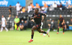SWANSEA, WALES - JULY 31: Michael Obafemi of Southampton during the pre-season friendly match between Swansea City and Southampton FC, at The Liberty Stadium on July 31, 2021 in Swansea, Wales. (Photo by Matt Watson/Southampton FC via Getty Images)