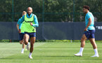 SOUTHAMPTON, ENGLAND - AUGUST 03: Nathan Redmond during a Southampton FC pre season training session at the Staplewood Campus on August 03, 2021 in Southampton, England. (Photo by Matt Watson/Southampton FC via Getty Images)