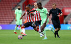 SOUTHAMPTON, ENGLAND - AUGUST 07: Theo Walcott of Southampton during the pre season friendly match between Southampton FC and Athletic Club at St Mary's Stadium on August 07, 2021 in Southampton, England. (Photo by Matt Watson/Southampton FC via Getty Images)