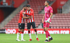 SOUTHAMPTON, ENGLAND - AUGUST 07: L to R Shane Long, Tino Livramento and Alex McCarthy of Southampton during the pre season friendly match between Southampton FC and Athletic Club at St Mary's Stadium on August 07, 2021 in Southampton, England. (Photo by Matt Watson/Southampton FC via Getty Images)