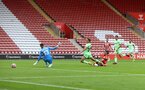 SOUTHAMPTON, ENGLAND - AUGUST 07: Theo Walcott of Southampton scores during the pre season friendly match between Southampton FC and Athletic Club at St Mary's Stadium on August 07, 2021 in Southampton, England. (Photo by Matt Watson/Southampton FC via Getty Images)