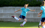 SOUTHAMPTON, ENGLAND - AUGUST 10: Rachel Panting during Southampton women's pre season training session at Staplewood Training Ground on August 10, 2021 in Southampton, England. (Photo by Isabelle Field/Southampton FC via Getty Images)