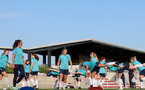 SOUTHAMPTON, ENGLAND - AUGUST 10: Southampton players during Southampton women's pre season training session at Staplewood Training Ground on August 10, 2021 in Southampton, England. (Photo by Isabelle Field/Southampton FC via Getty Images)