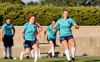 SOUTHAMPTON, ENGLAND - AUGUST 10: Molly Mott(L) and Catilin Morris(R) during Southampton women's pre season training session at Staplewood Training Ground on August 10, 2021 in Southampton, England. (Photo by Isabelle Field/Southampton FC via Getty Images)