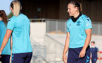 SOUTHAMPTON, ENGLAND - AUGUST 10: Shannon Sievwright(R) during Southampton women's pre season training session at Staplewood Training Ground on August 10, 2021 in Southampton, England. (Photo by Isabelle Field/Southampton FC via Getty Images)