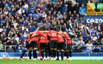 LIVERPOOL, ENGLAND - AUGUST 14: Southampton players huddle ahead of the Premier League match between Everton  and  Southampton at Goodison Park on August 14, 2021 in Liverpool, England. (Photo by Matt Watson/Southampton FC via Getty Images)