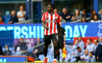 LIVERPOOL, ENGLAND - AUGUST 14: Mohammed Salisu of Southampton during the Premier League match between Everton  and  Southampton at Goodison Park on August 14, 2021 in Liverpool, England. (Photo by Matt Watson/Southampton FC via Getty Images)