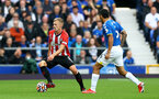 LIVERPOOL, ENGLAND - AUGUST 14: James Ward-Prowse(L) of Southampton during the Premier League match between Everton  and  Southampton at Goodison Park on August 14, 2021 in Liverpool, England. (Photo by Matt Watson/Southampton FC via Getty Images)