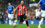 LIVERPOOL, ENGLAND - AUGUST 14: Adam Armstrong of Southampton during the Premier League match between Everton  and  Southampton at Goodison Park on August 14, 2021 in Liverpool, England. (Photo by Matt Watson/Southampton FC via Getty Images)