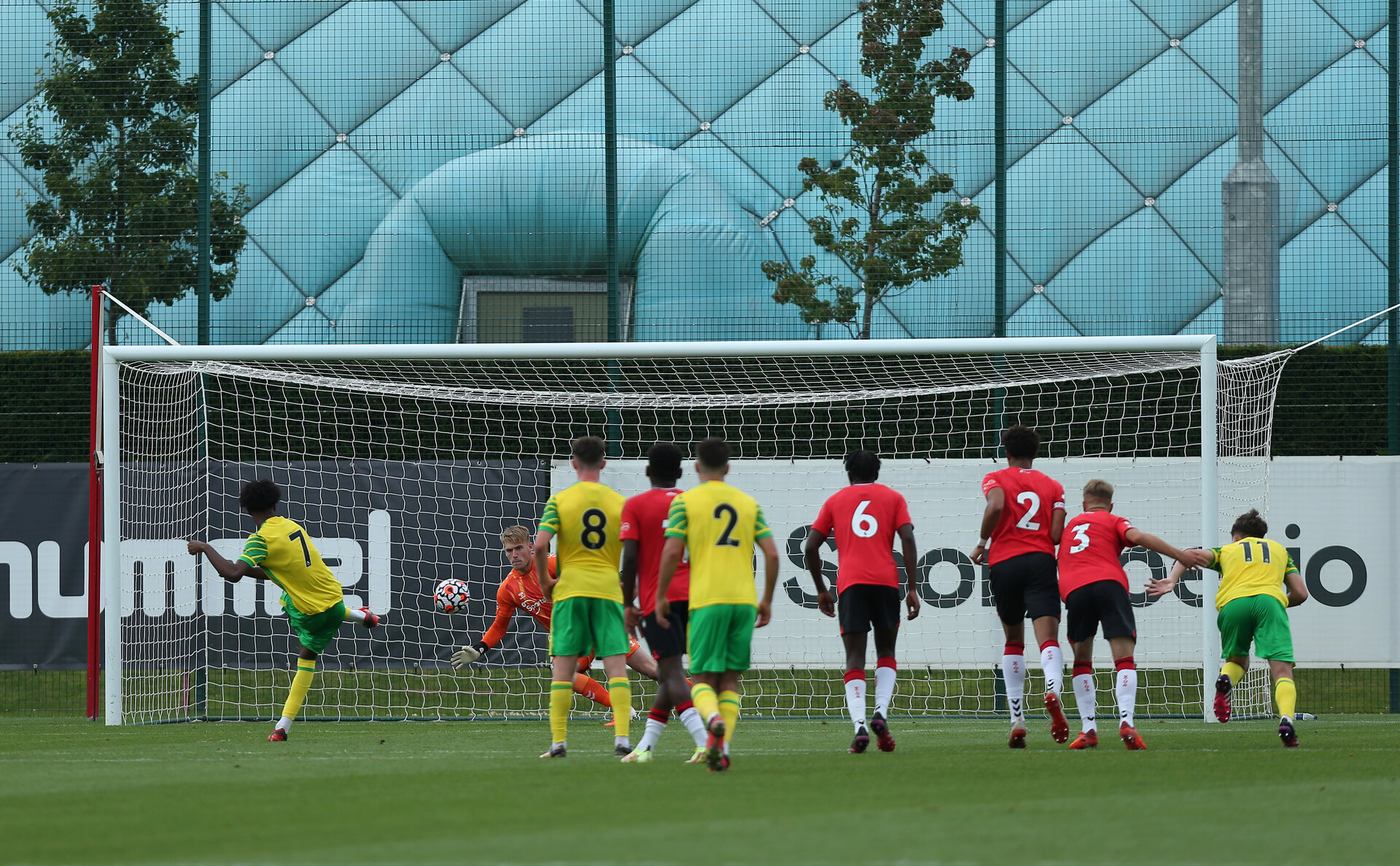 Southampton B v Norwich B, Premier League 2, Division 2, Staplewood Campus, Marchwood, Southampton Picture: Chris Moorhouse  Sunday 15th August 2021