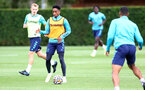 SOUTHAMPTON, ENGLAND - AUGUST 17: Kyle Walker-Peters during a Southampton FC training session at Staplewood Campus on August 17, 2021 in Southampton, England. (Photo by Matt Watson/Southampton FC via Getty Images)
