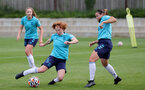 SOUTHAMPTON, ENGLAND - AUGUST 17: Molly Mott(L) and Shannon Sievwright(R) during Southampton Women's training session at  Staplewood Training Ground on August 17, 2021 in Southampton, England. (Photo by Isabelle Field/Southampton FC via Getty Images)