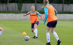 SOUTHAMPTON, ENGLAND - AUGUST 17: Shelly Provan(L) during Southampton Women's training session at  Staplewood Training Ground on August 17, 2021 in Southampton, England. (Photo by Isabelle Field/Southampton FC via Getty Images)