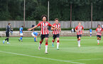 SOUTHAMPTON, ENGLAND - AUGUST 21: Kamari Doyle of Southampton celebrates after scoring during the U18 PL match between Southampton FC U18 and Birmingham City U18, at the Staplewood Campus on August 21, 2021 in Southampton, England. (Photo by Matt Watson/Southampton FC)