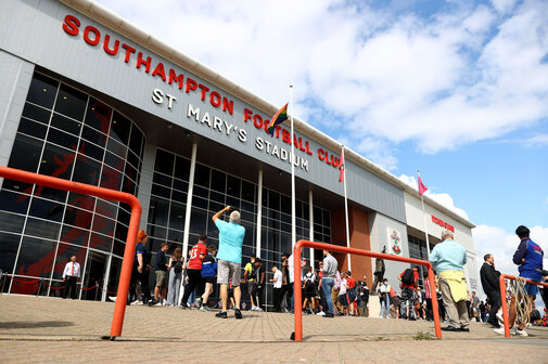 SOUTHAMPTON, ENGLAND - AUGUST 22: A general view ahead of the Premier League match between Southampton  and  Manchester United at St Mary's Stadium on August 22, 2021 in Southampton, England. (Photo by Matt Watson/Southampton FC via Getty Images)
