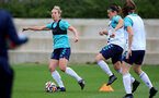 SOUTHAMPTON, ENGLAND - AUGUST 31: Shelly Provan(L) during Southampton Women's training session at  Staplewood Training Ground on August 31, 2021 in Southampton, England. (Photo by Isabelle Field/Southampton FC via Getty Images)