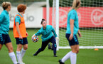 SOUTHAMPTON, ENGLAND - AUGUST 31: Sara Luce during Southampton Women's training session at  Staplewood Training Ground on August 31, 2021 in Southampton, England. (Photo by Isabelle Field/Southampton FC via Getty Images)