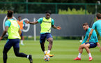 SOUTHAMPTON, ENGLAND - SEPTEMBER 01: Mohammed Salisu during Southampton training session at Staplewood Complex on September 01, 2021 in Southampton, England. (Photo by Isabelle Field/Southampton FC via Getty Images)