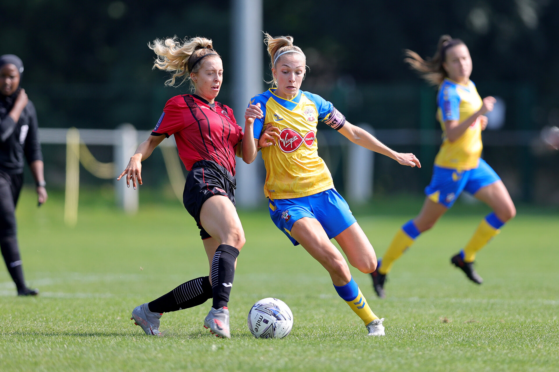MIDDLESEX, ENGLAND - SEPTEMBER 05:  during the Women's National League Southern Premier match between Hounslow and Southampton Women at Rectory Meadow on September 05, 2021 in Middlesex, England. (Photo by Isabelle Field/Southampton FC via Getty Images)