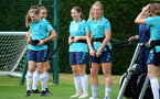 SOUTHAMPTON, ENGLAND - SEPTEMBER 08: Southampton players during Southampton Women's training at Staplewood Training Ground on September 08, 2021 in Southampton, England. (Photo by Isabelle Field/Southampton FC via Getty Images)