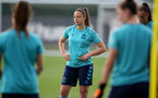 SOUTHAMPTON, ENGLAND - SEPTEMBER 08: Kirsty Whitton during Southampton Women's training at Staplewood Training Ground on September 08, 2021 in Southampton, England. (Photo by Isabelle Field/Southampton FC via Getty Images)