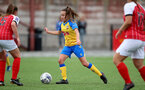 CHELTENHAM, ENGLAND - SEPTEMBER 12: Sophia Pharoah of Southampton during the Women's FA National League Cup match between  Cheltenham Town and  Southampton Women at The Corinium Stadium on September 12, 2021 in  Cheltenham, England. (Photo by Isabelle Field/Southampton FC via Getty Images)