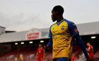 LONDON, ENGLAND - SEPTEMBER 14: Remello Mitchell of Southampton during the Papa John's Trophy match between Leyton Orient and Southampton B Team at Breyer Group Stadium on September 14, 2021 in London, England. (Photo by Isabelle Field/Southampton FC via Getty Images)