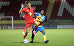 LONDON, ENGLAND - SEPTEMBER 14: Joshua Lett(R) of Southampton during the Papa John's Trophy match between Leyton Orient and Southampton B Team at Breyer Group Stadium on September 14, 2021 in London, England. (Photo by Isabelle Field/Southampton FC via Getty Images)