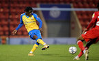LONDON, ENGLAND - SEPTEMBER 14: Zuriel Otseh-Taiwo of Southampton during the Papa John's Trophy match between Leyton Orient and Southampton B Team at Breyer Group Stadium on September 14, 2021 in London, England. (Photo by Isabelle Field/Southampton FC via Getty Images)