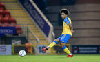 LONDON, ENGLAND - SEPTEMBER 14: Kamari Doyle of Southampton during the Papa John's Trophy match between Leyton Orient and Southampton B Team at Breyer Group Stadium on September 14, 2021 in London, England. (Photo by Isabelle Field/Southampton FC via Getty Images)
