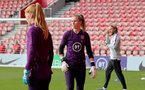 SOUTHAMPTON, ENGLAND - SEPTEMBER 16: Ellie Roebuck during England Women's training session at St Mary's Stadium on September 16, 2021 in Southampton, England. (Photo by Isabelle Field/Southampton FC via Getty Images)