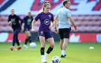 SOUTHAMPTON, ENGLAND - SEPTEMBER 16: Ella Toome during England Women's training session at St Mary's Stadium on September 16, 2021 in Southampton, England. (Photo by Isabelle Field/Southampton FC via Getty Images)