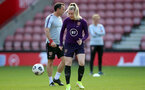 SOUTHAMPTON, ENGLAND - SEPTEMBER 16: Lauren Hemp during England Women's training session at St Mary's Stadium on September 16, 2021 in Southampton, England. (Photo by Isabelle Field/Southampton FC via Getty Images)