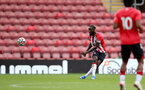 SOUTHAMPTON, ENGLAND - SEPTEMBER 19: Dynel Simeu of Southampton during the Premier League 2 match between Southampton B Team and Burnley at St Mary's Stadium on September 19, 2021 in Southampton, England. (Photo by Isabelle Field/Southampton FC via Getty Images)