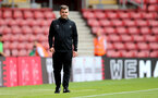 SOUTHAMPTON, ENGLAND - SEPTEMBER 19: Dave Horseman Southampton B Team head coach during the Premier League 2 match between Southampton B Team and Burnley at St Mary's Stadium on September 19, 2021 in Southampton, England. (Photo by Isabelle Field/Southampton FC via Getty Images)