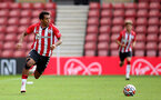 SOUTHAMPTON, ENGLAND - SEPTEMBER 19: Caleb Watts of Southampton during the Premier League 2 match between Southampton B Team and Burnley at St Mary's Stadium on September 19, 2021 in Southampton, England. (Photo by Isabelle Field/Southampton FC via Getty Images)