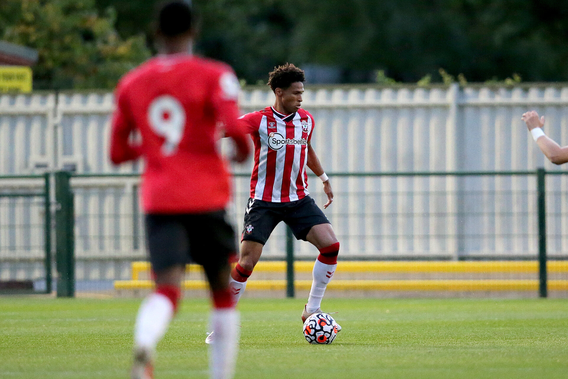SOUTHAMPTON, ENGLAND - SEPTEMBER 23:  during the Premier League Cup match between Southampton B Team and West Bromwich Albion at Snows Stadium on September 23, 2021 in Southampton, England. (Photo by Isabelle Field/Southampton FC via Getty Images)