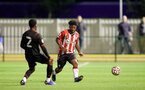 SOUTHAMPTON, ENGLAND - SEPTEMBER 23: Joshua Lett of Southampton during the Premier League Cup match between Southampton B Team and West Bromwich Albion at Snows Stadium on September 23, 2021 in Southampton, England. (Photo by Isabelle Field/Southampton FC via Getty Images)
