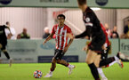 SOUTHAMPTON, ENGLAND - SEPTEMBER 23: Caleb Watts of Southampton during the Premier League Cup match between Southampton B Team and West Bromwich Albion at Snows Stadium on September 23, 2021 in Southampton, England. (Photo by Isabelle Field/Southampton FC via Getty Images)