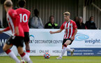 SOUTHAMPTON, ENGLAND - SEPTEMBER 23: Lewis Payne of Southampton during the Premier League Cup match between Southampton B Team and West Bromwich Albion at Snows Stadium on September 23, 2021 in Southampton, England. (Photo by Isabelle Field/Southampton FC via Getty Images)
