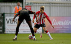SOUTHAMPTON, ENGLAND - SEPTEMBER 23: Dominic Ballard(R) of Southampton during the Premier League Cup match between Southampton B Team and West Bromwich Albion at Snows Stadium on September 23, 2021 in Southampton, England. (Photo by Isabelle Field/Southampton FC via Getty Images)