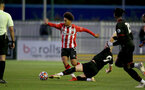 SOUTHAMPTON, ENGLAND - SEPTEMBER 23: Kamari Doyle(L) of Southampton during the Premier League Cup match between Southampton B Team and West Bromwich Albion at Snows Stadium on September 23, 2021 in Southampton, England. (Photo by Isabelle Field/Southampton FC via Getty Images)